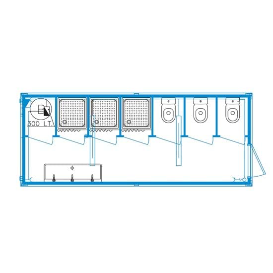 Event-line unit CS06 - Toilet / Douche