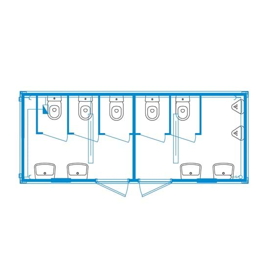 Event-line unit CS07 - Ladies / Men Toilet